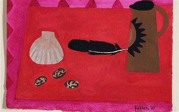 Red Table, Brown Jug - Mary Fedden