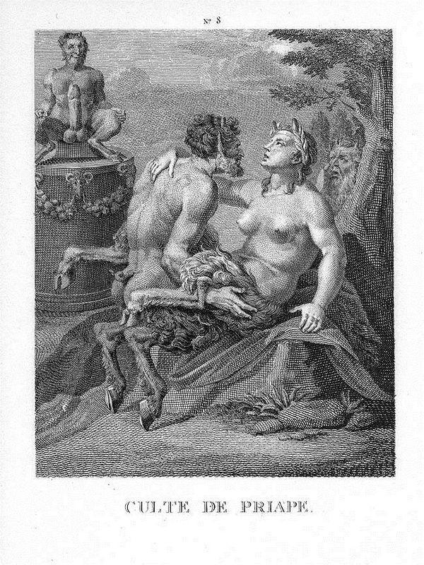 Religion of Priapus - Agostino Carracci