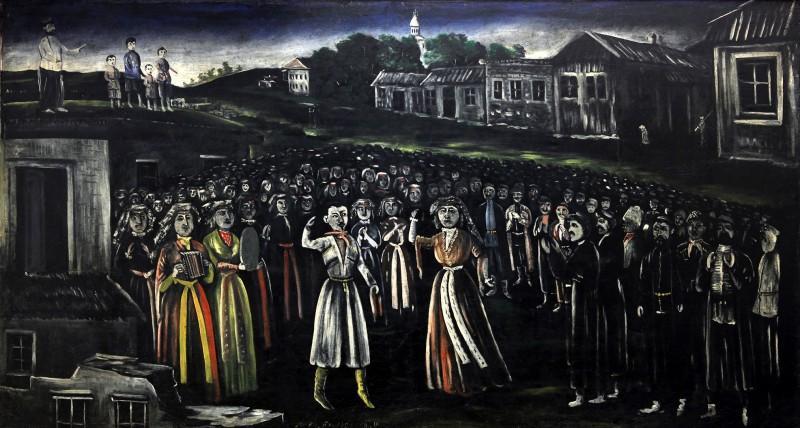 The church festival in Kartli (central Georgia) - Niko Pirosmani