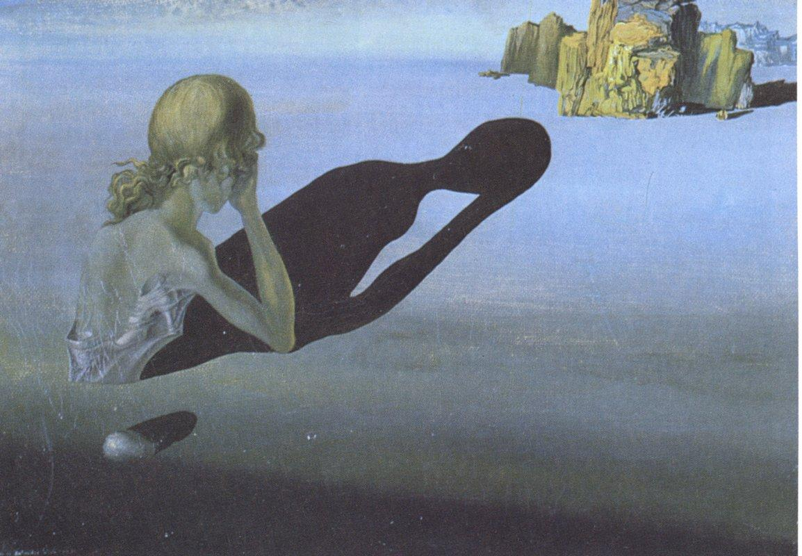 Remorse, or Sphinx Embedded in the Sand - Salvador Dali