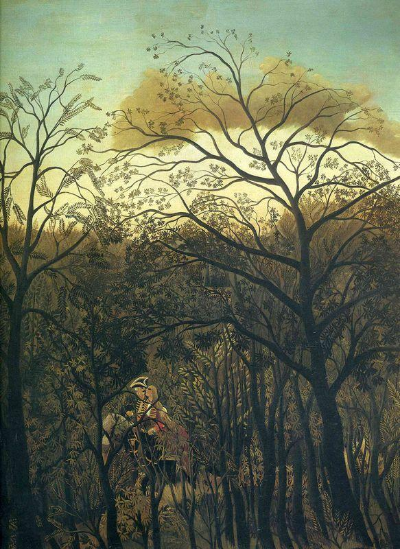 Rendez Vous in the Forest  - Henri Rousseau