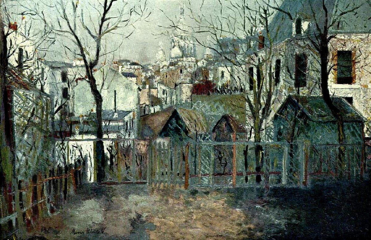 Renoir`s Garden - Maurice Utrillo
