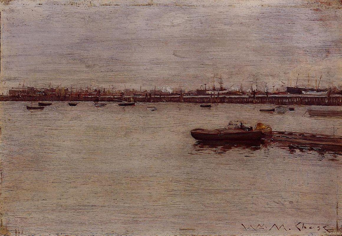 Repair Docks, Gowanus Pier - William Merritt Chase