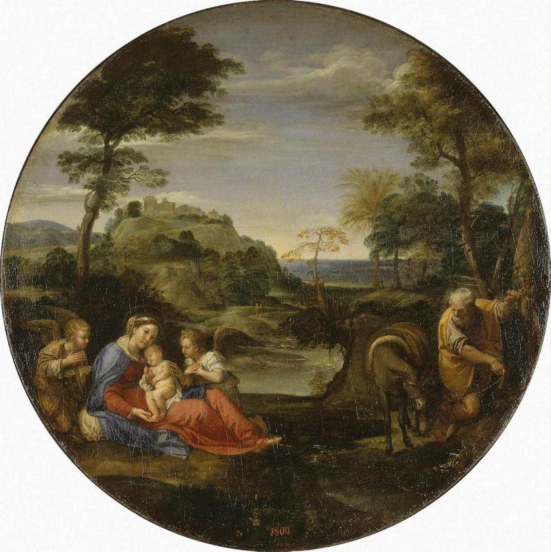 Rest on Flight into Egypt - Annibale Carracci