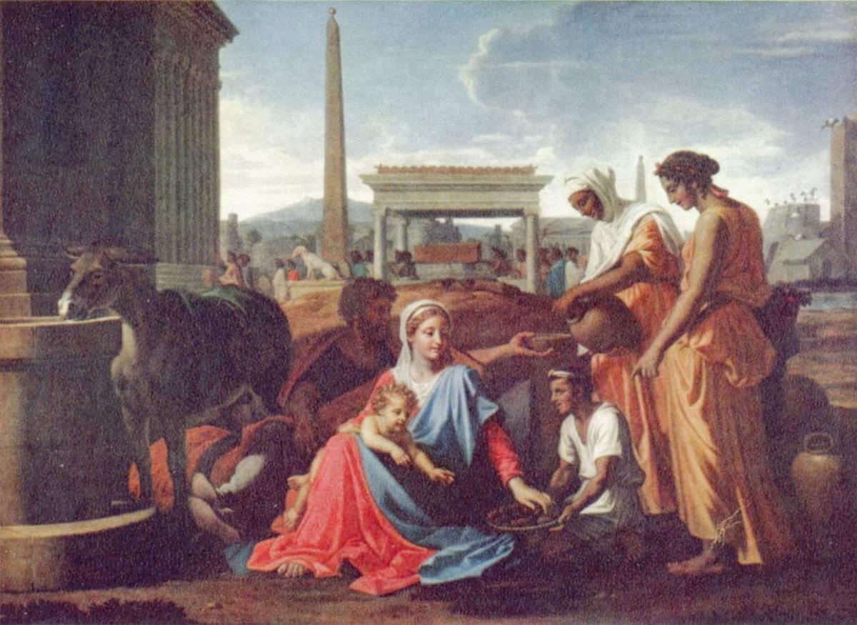 Rest on the escape to Egypt - Nicolas Poussin