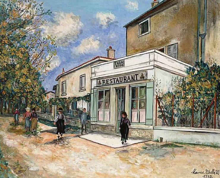 Restaurant Bibet at Saint Bernard - Maurice Utrillo