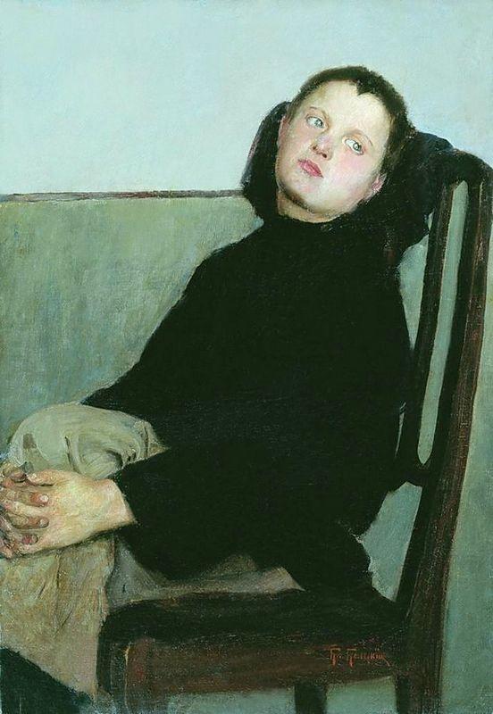 Resting Boy - Nikolay Bogdanov-Belsky