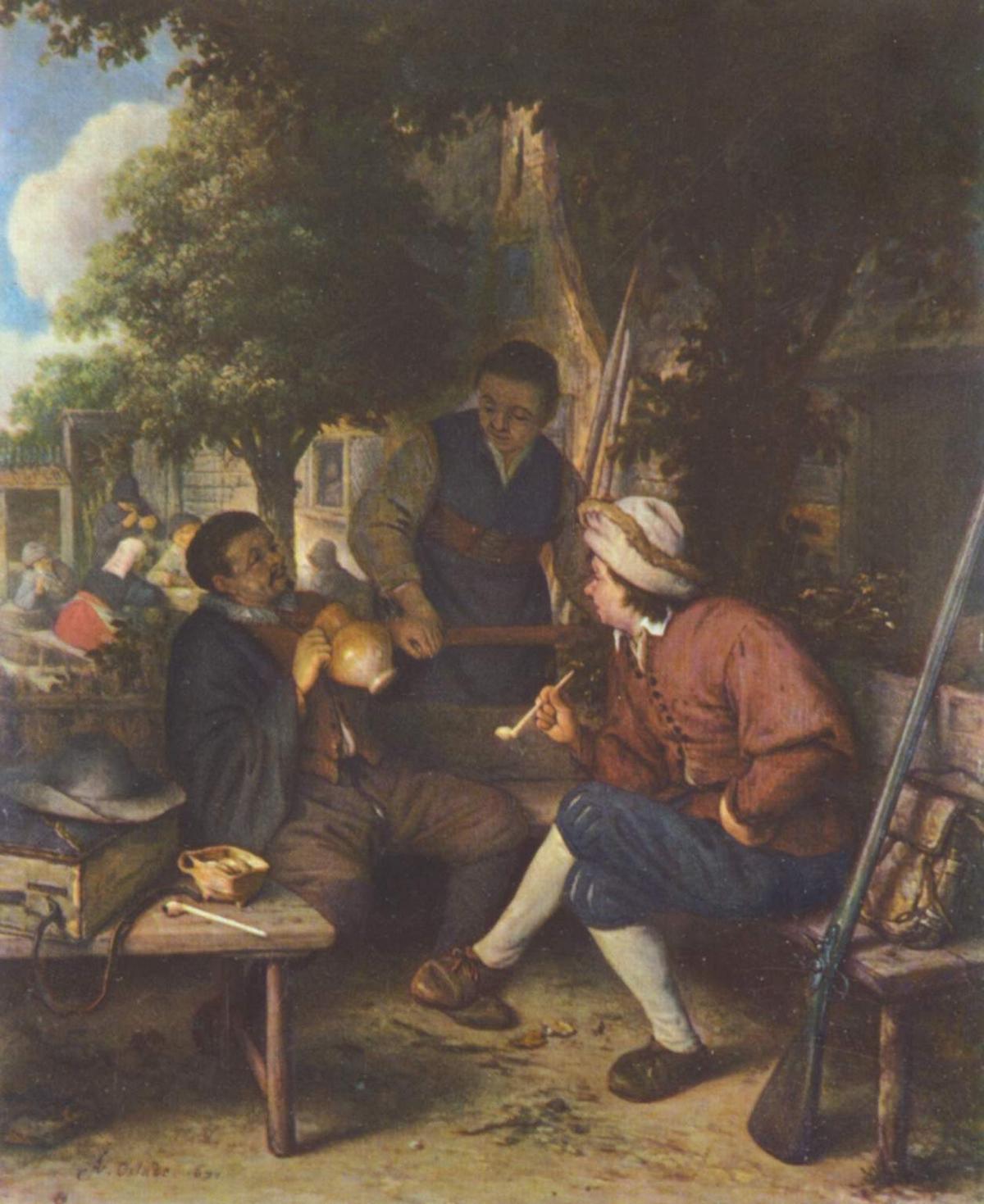 Resting Travellers - Adriaen van Ostade