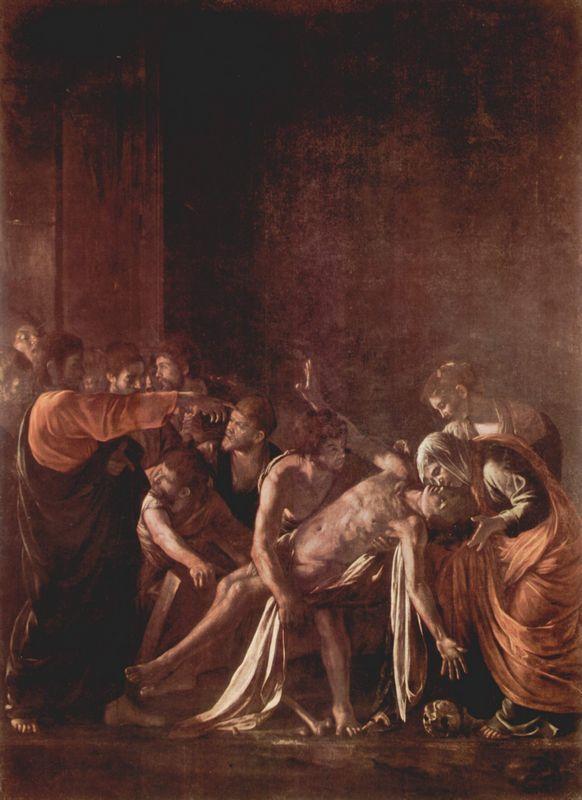 Resurrection of Lazarus - Caravaggio