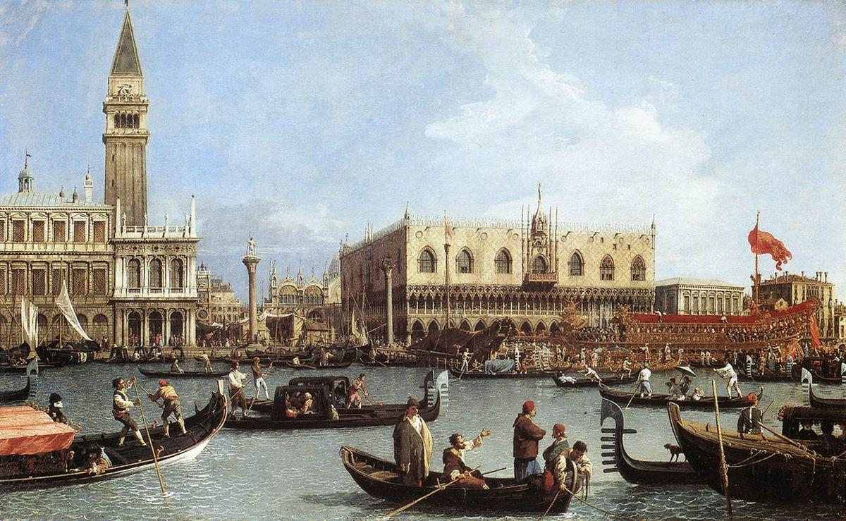 Return of the Bucentoro to the Molo on Ascension Day - Canaletto