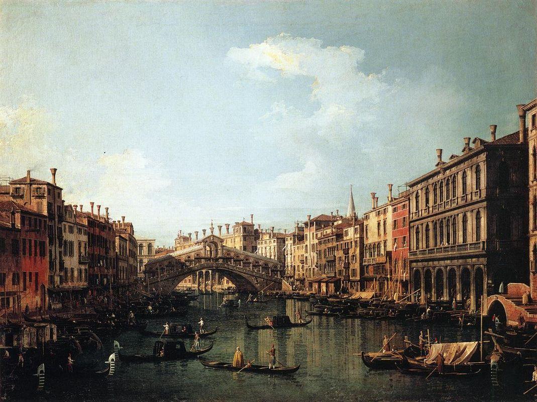 Rialto Bridge from the South - Canaletto