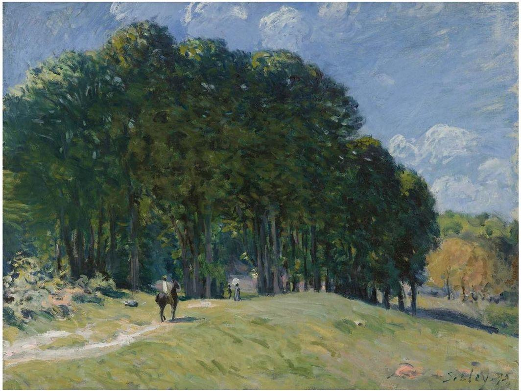 Rider at the Edge of the Forest - Alfred Sisley
