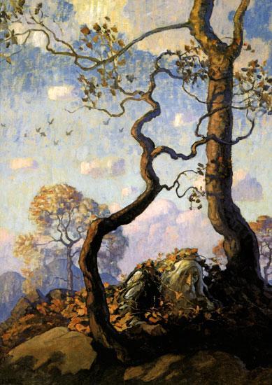 Rip Van Winkle Illustration - N.C. Wyeth