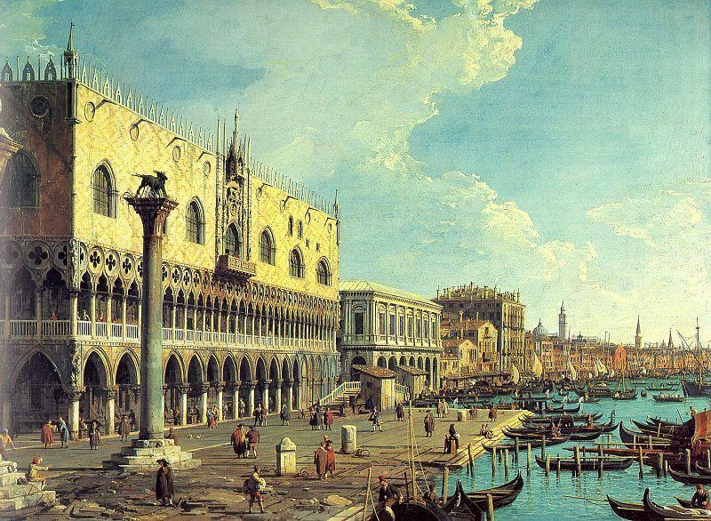 Riva degli Schiavoni Looking East - Canaletto