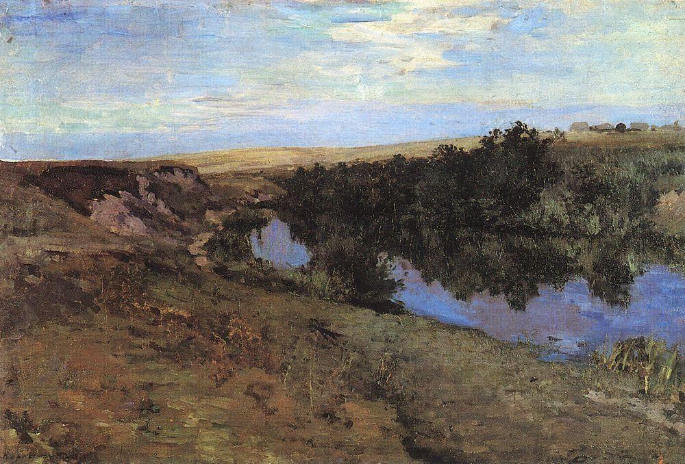 River in Menshov  - Konstantin Korovin