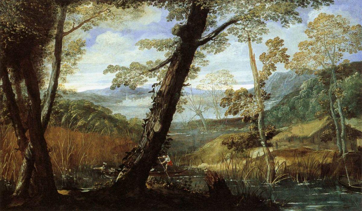 River Landscape - Annibale Carracci