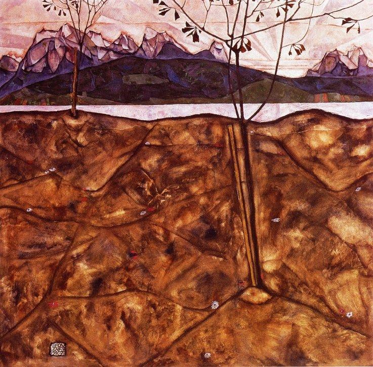 River Landscape - Egon Schiele