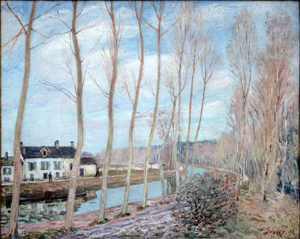River Loing - Alfred Sisley