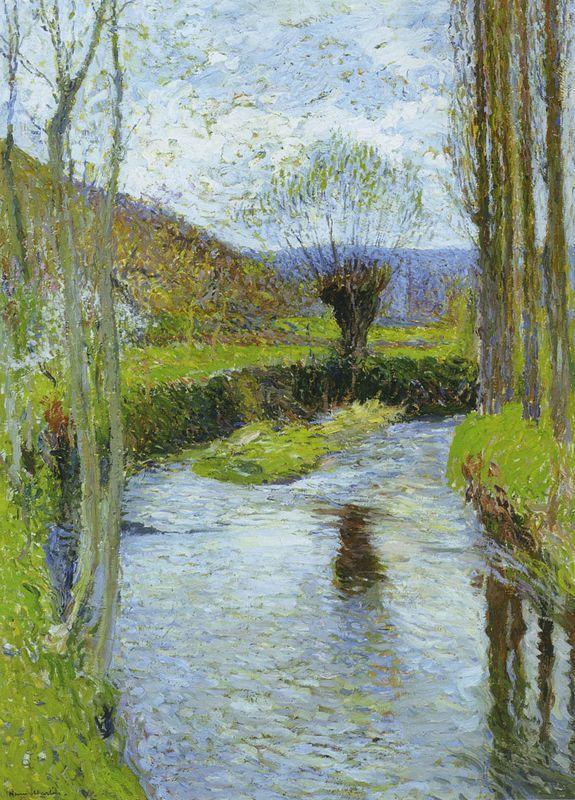 River Vert in Spring - Henri Martin