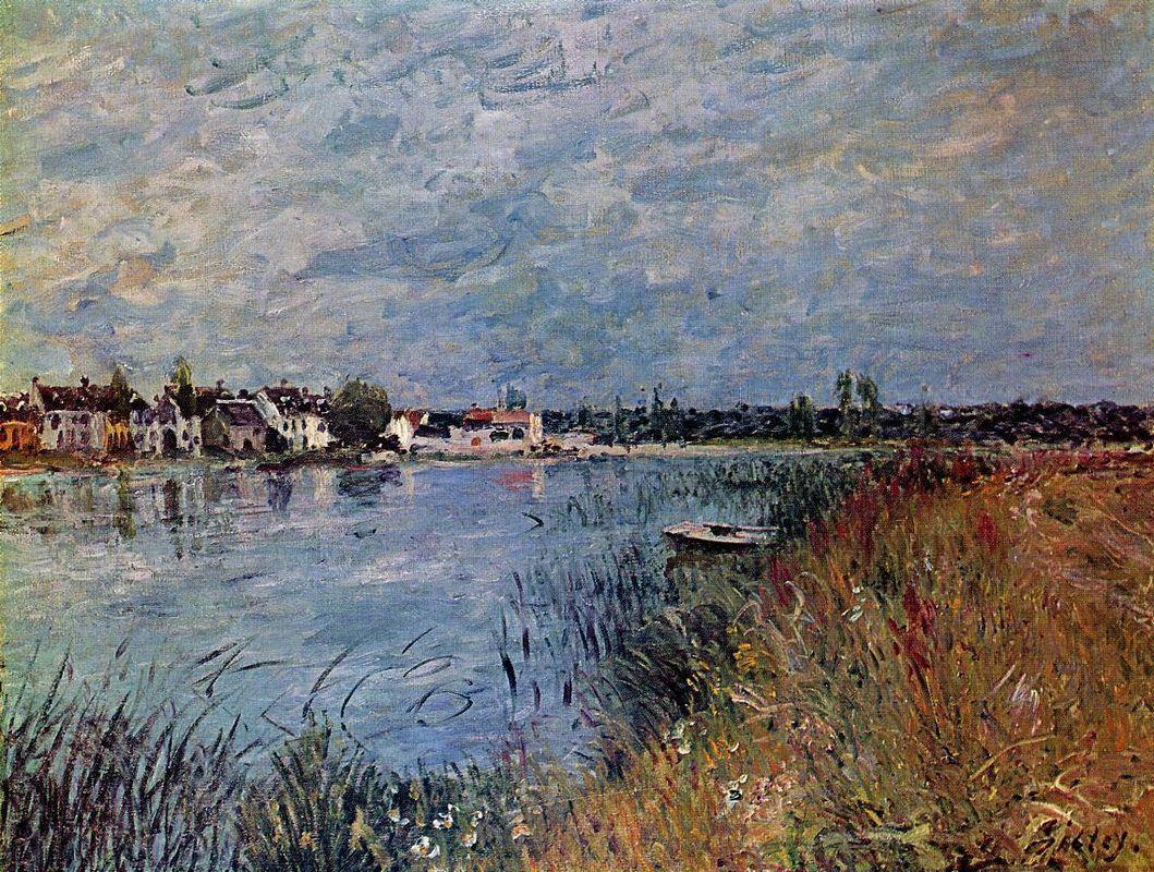 Riverbank at Saint Mammes - Alfred Sisley