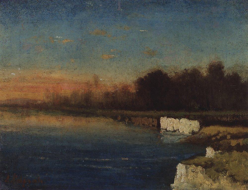 Riverbank of Velunia - Aleksey Savrasov