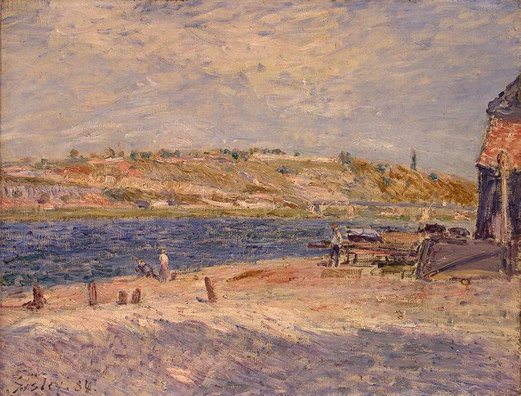 Riverbanks at Saint Mammes - Alfred Sisley
