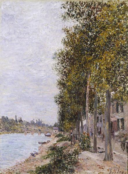 Road Along the Seine at Saint Mammes - Alfred Sisley