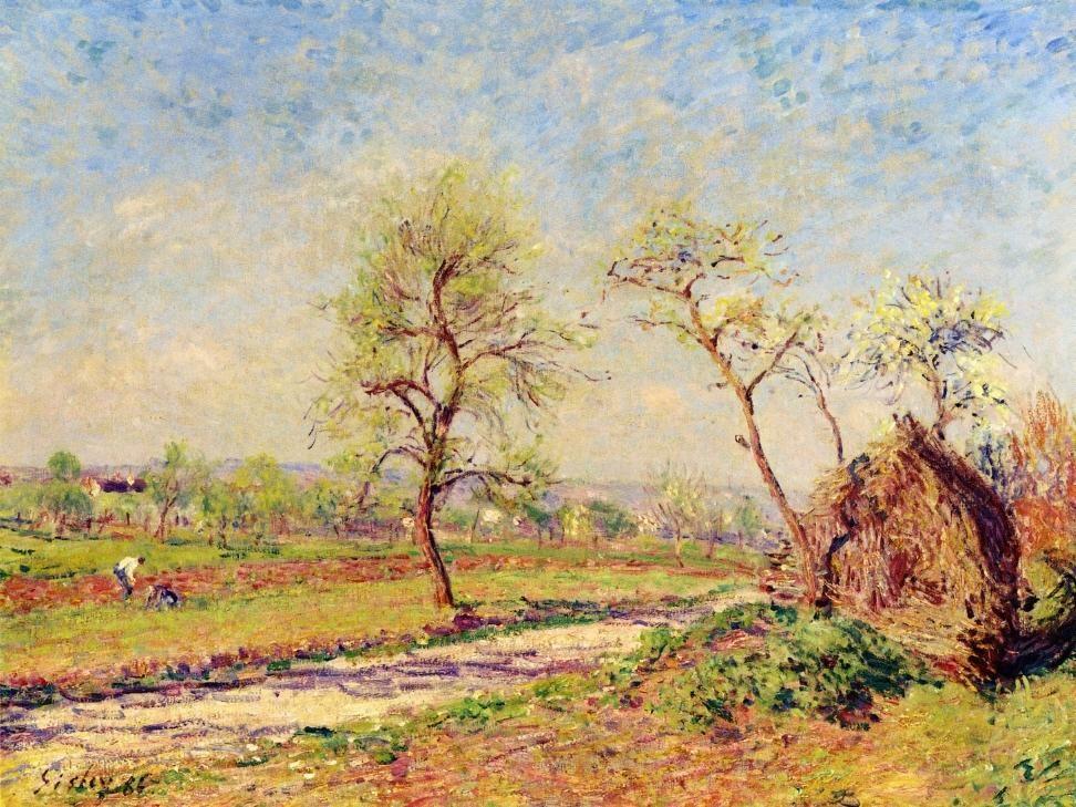 Road at Veneux - Alfred Sisley
