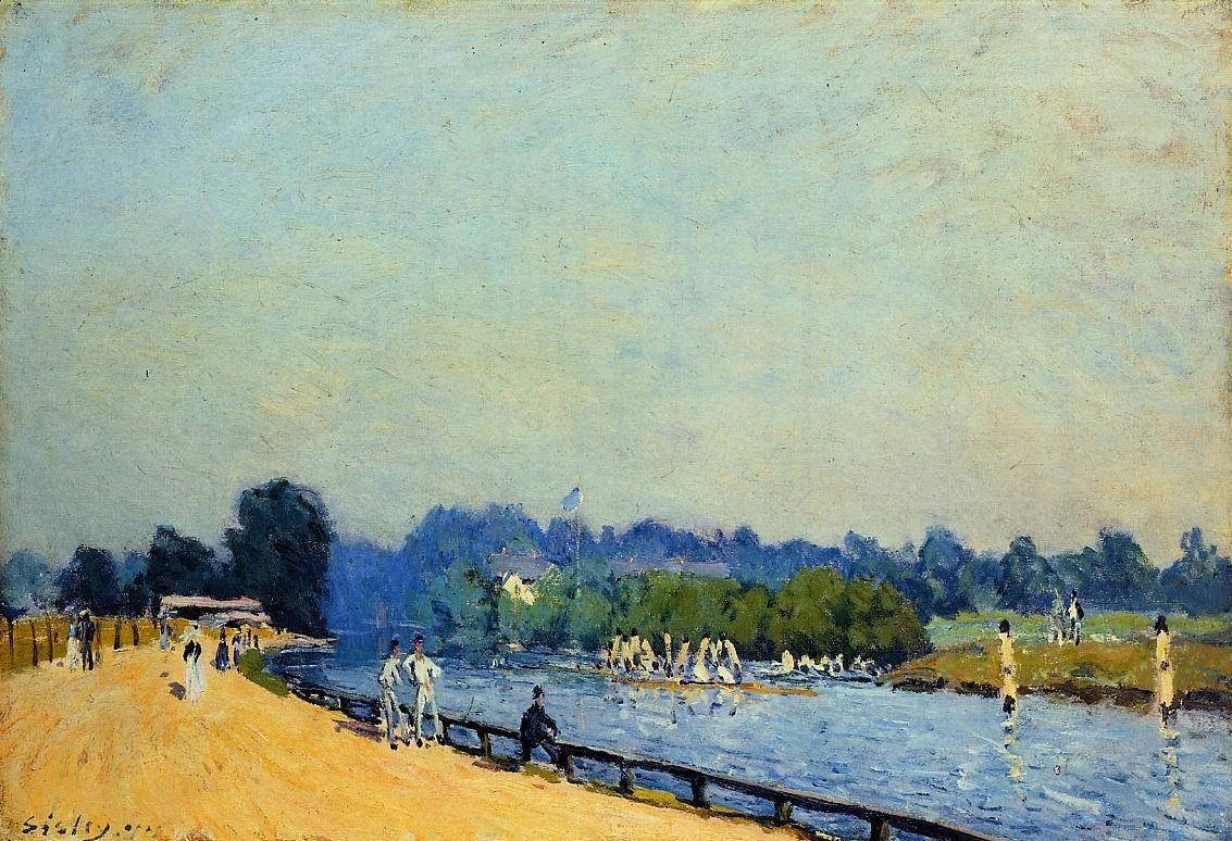 Road from Hampton Court - Alfred Sisley