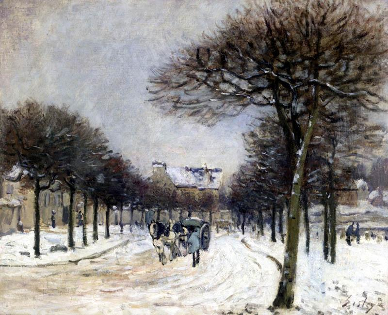 Road from Saint Germain to Marly - Alfred Sisley