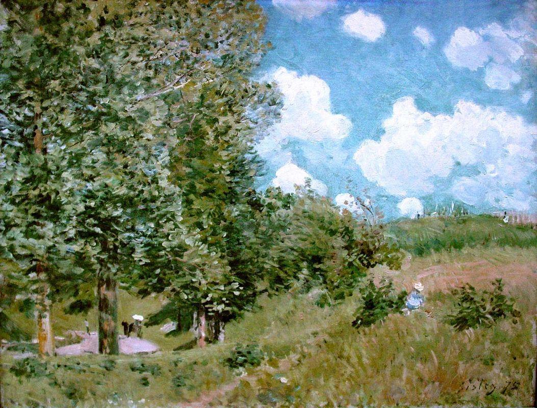 Road from Versailles to Saint Germain - Alfred Sisley