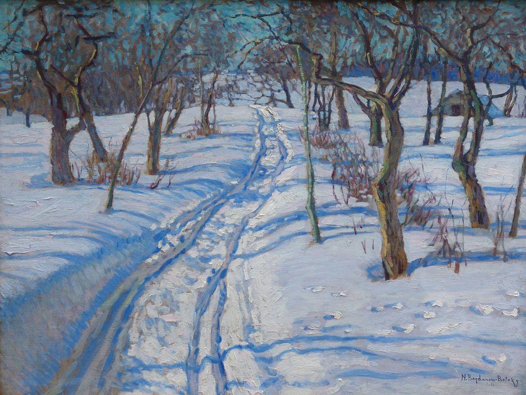 Road in a Winter Garden - Nikolay Bogdanov-Belsky