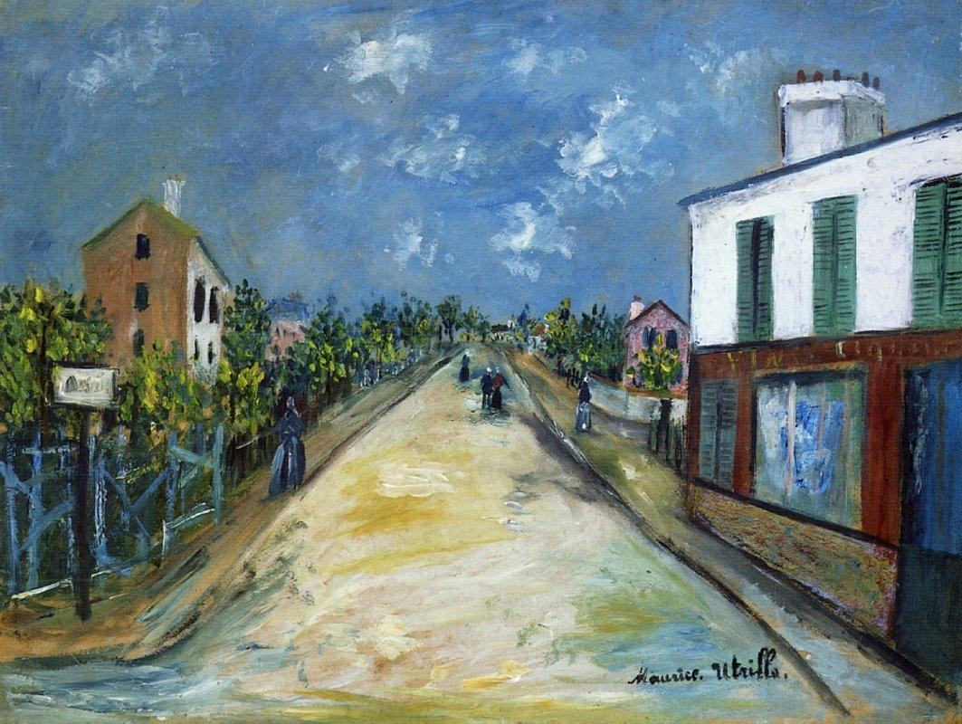 Road in Argenteuil - Maurice Utrillo