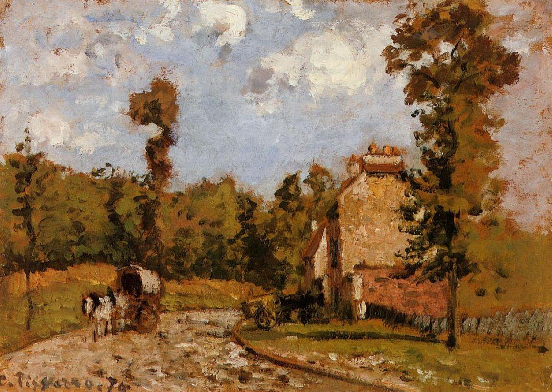 Road in Port Maryl - Camille Pissarro