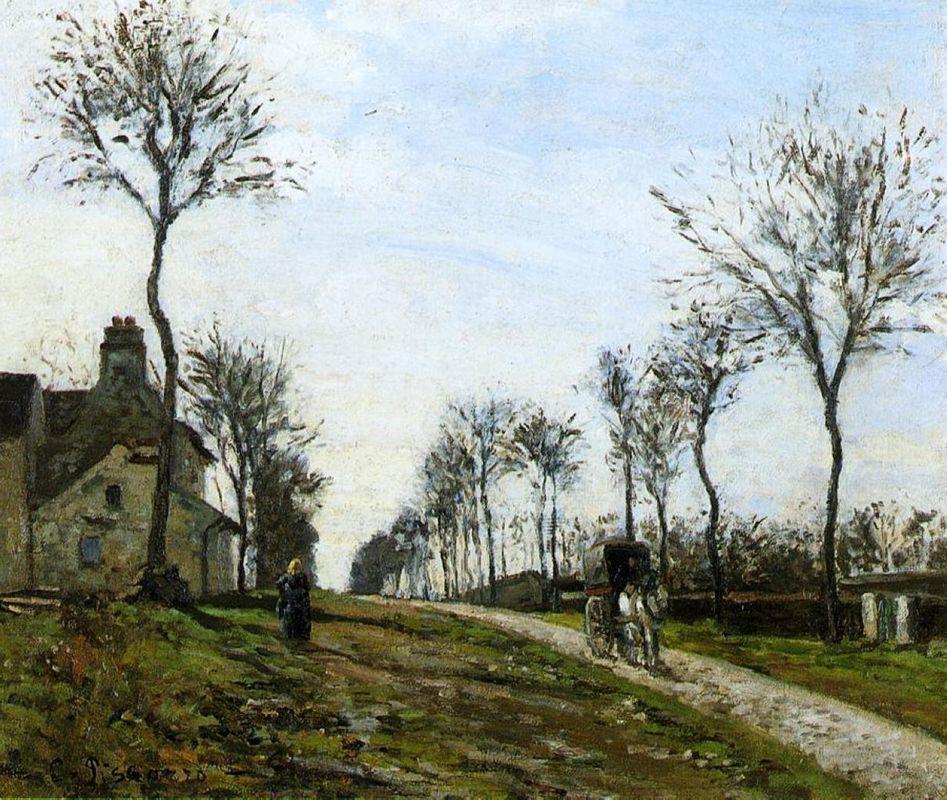 Road to Louveciennes - Camille Pissarro