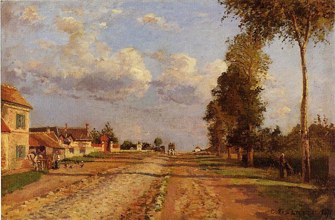 Road to Racquencourt - Camille Pissarro