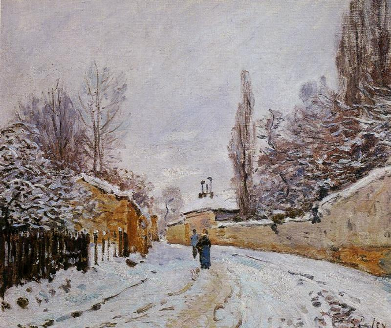 Road under Snow, Louveciennes - Alfred Sisley