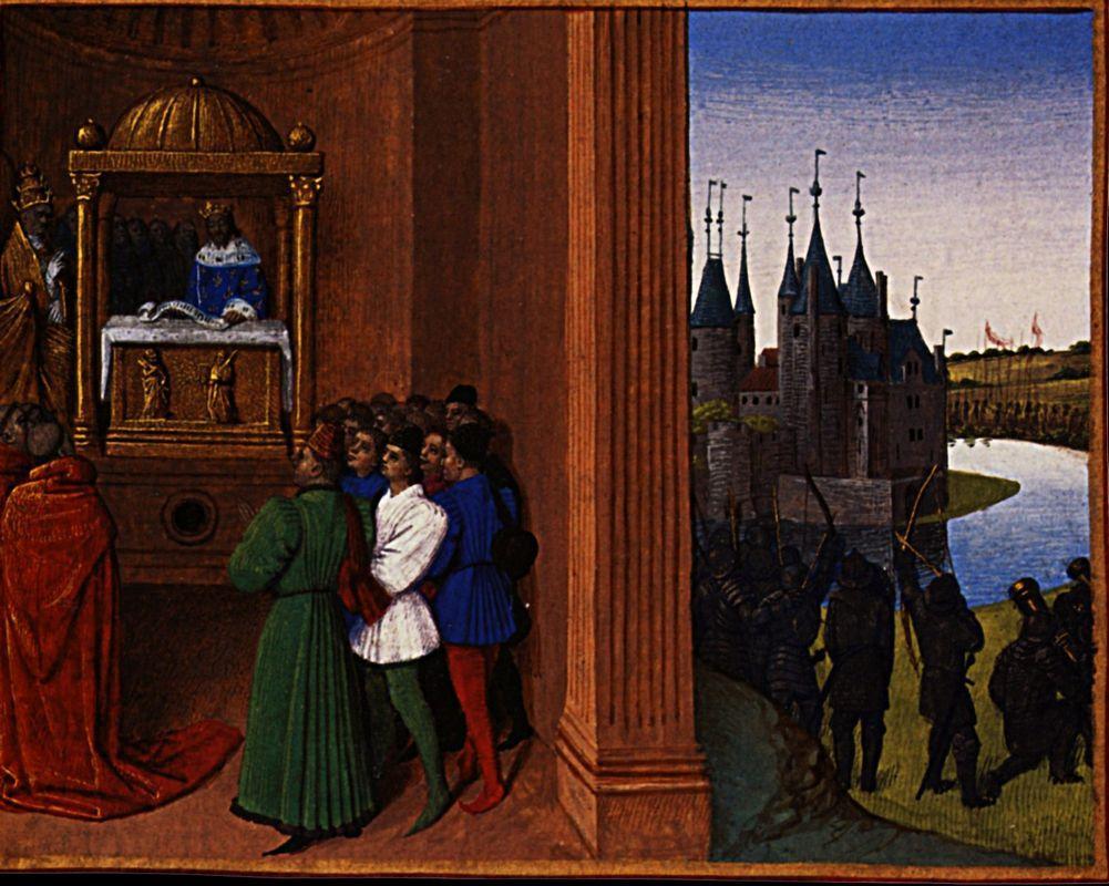 Robert the Pious Files an Antiphon - Jean Fouquet