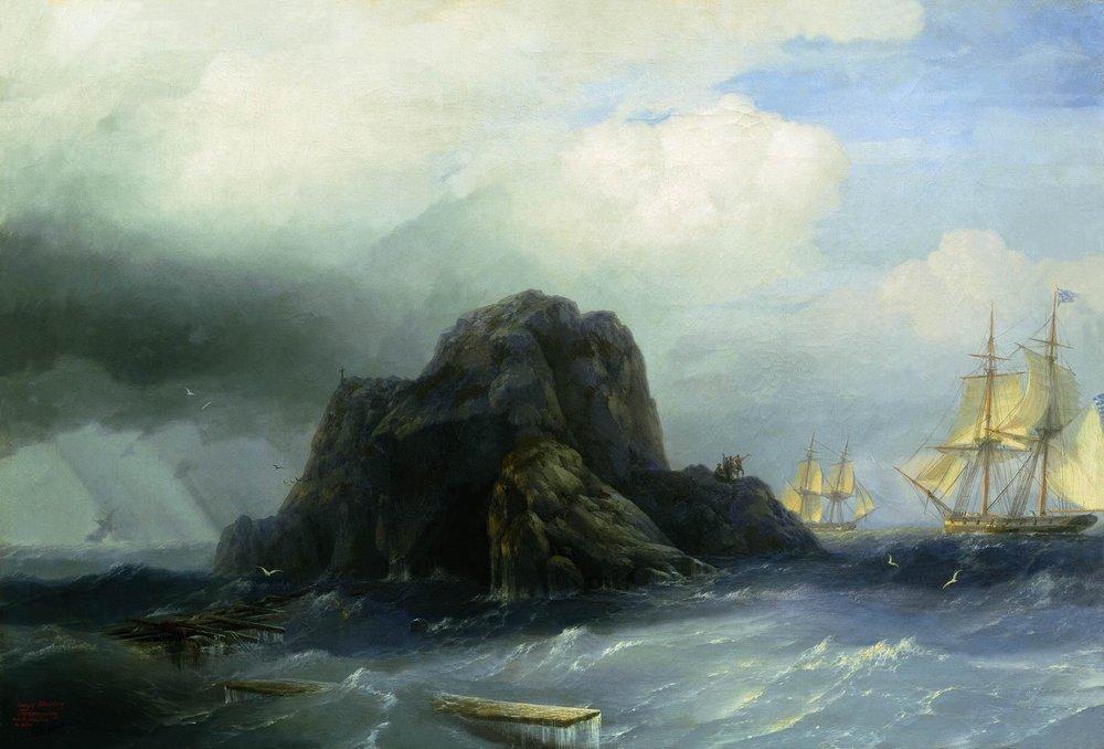 Rocky island - Ivan Aivazovsky