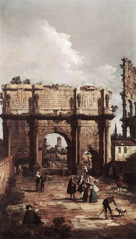 Rome: The Arch of Constantine - Canaletto