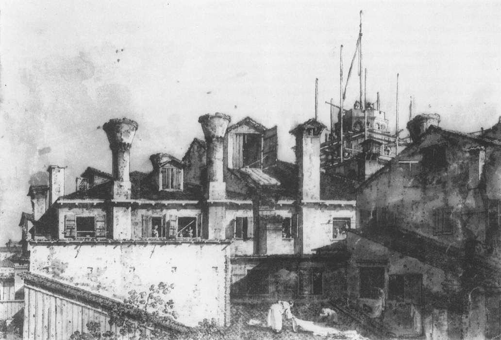 Roofs and Chimneys in Venice - Canaletto