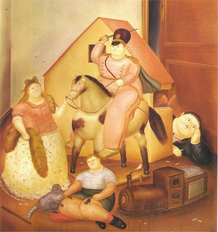 Room with Children's Games - Fernando Botero