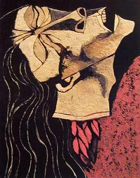 Rosa Zarate, Decapitated Flower - Oswaldo Guayasamin
