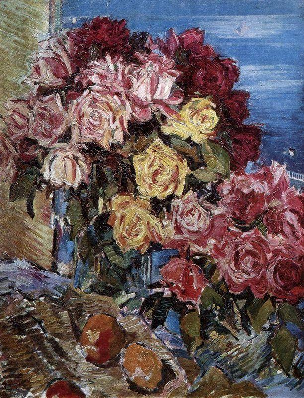 Rose against the sea  - Konstantin Korovin