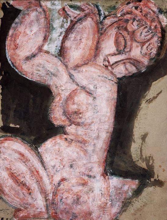 Nude Caryatid  - Amedeo Modigliani