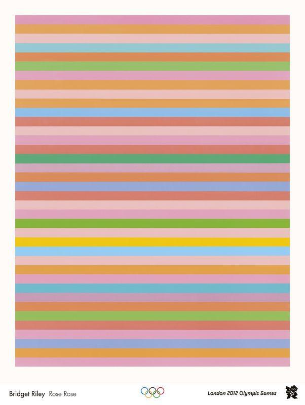 Rose Rose (London 2012 Olympic Games Poster) - Bridget Riley