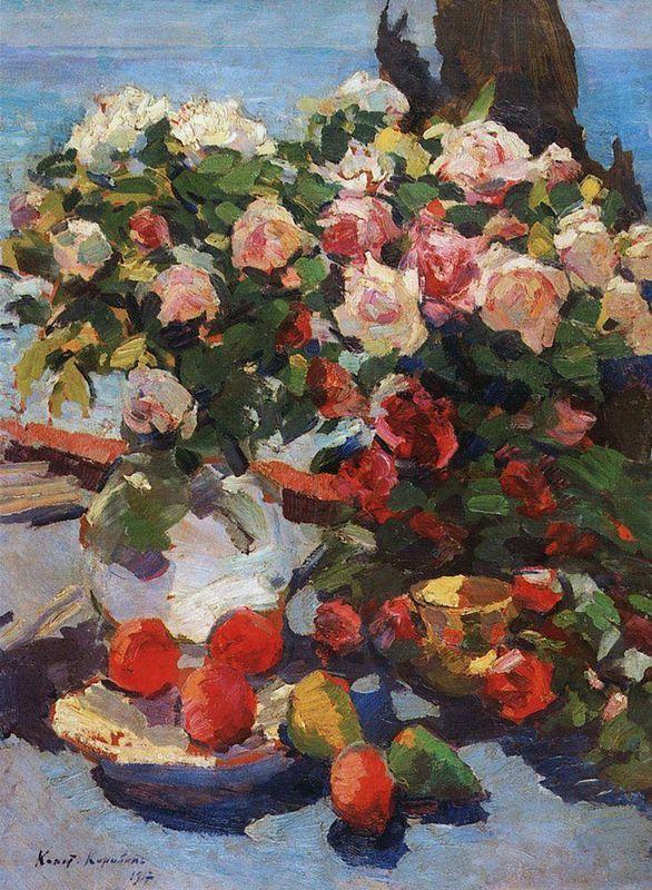 Roses and Fruit  - Konstantin Korovin
