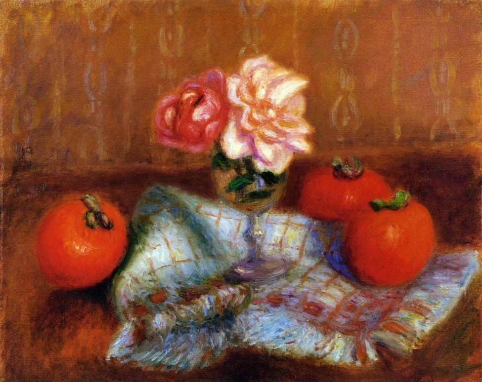 Roses and Perimmons - William James Glackens