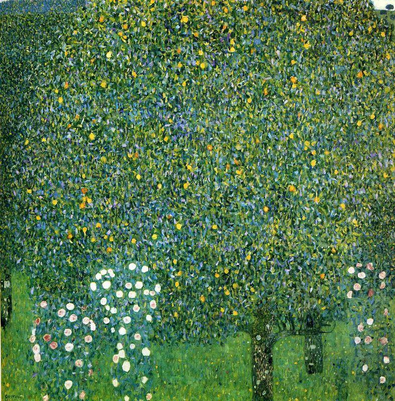 Roses under the Trees - Gustav Klimt