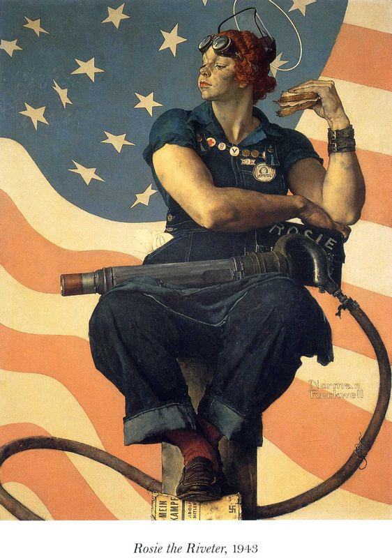 Rosie the Riveter - Norman Rockwell